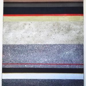 Original 24x30 abstract/crystal painting
